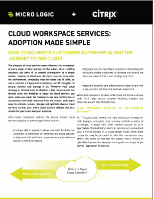 Cloud Workspace Services - Adoption Made Simple