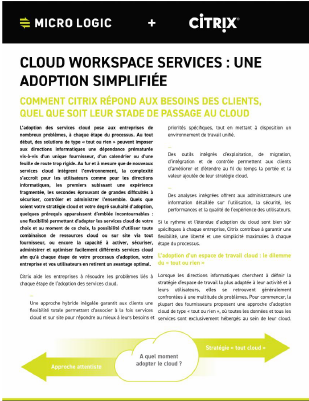 Cloud Workspace Services - Une adoption simplifiée