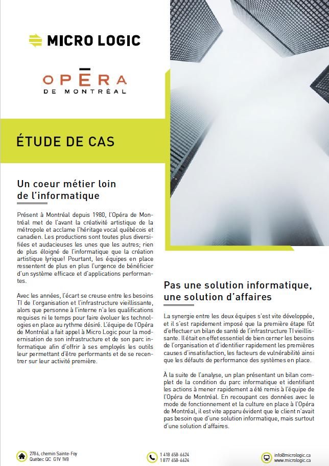 Opéra de Montréal X Micro Logic